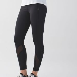 Lululemon Inspire Tight II (Mesh)  Black
